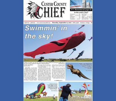 Front page Sept 9 2021 Callaway Kite flight red whale kites