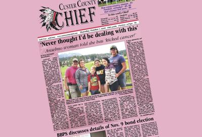 Front page Oct 7 2021 pink Breast Cancer Awareness Tiffany Glidden