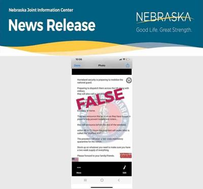 Rumor National Guard Nebraska Joint Information Center March 31 2020