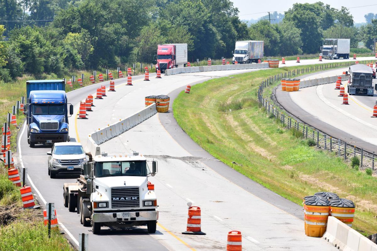 I-57 construction problem zone