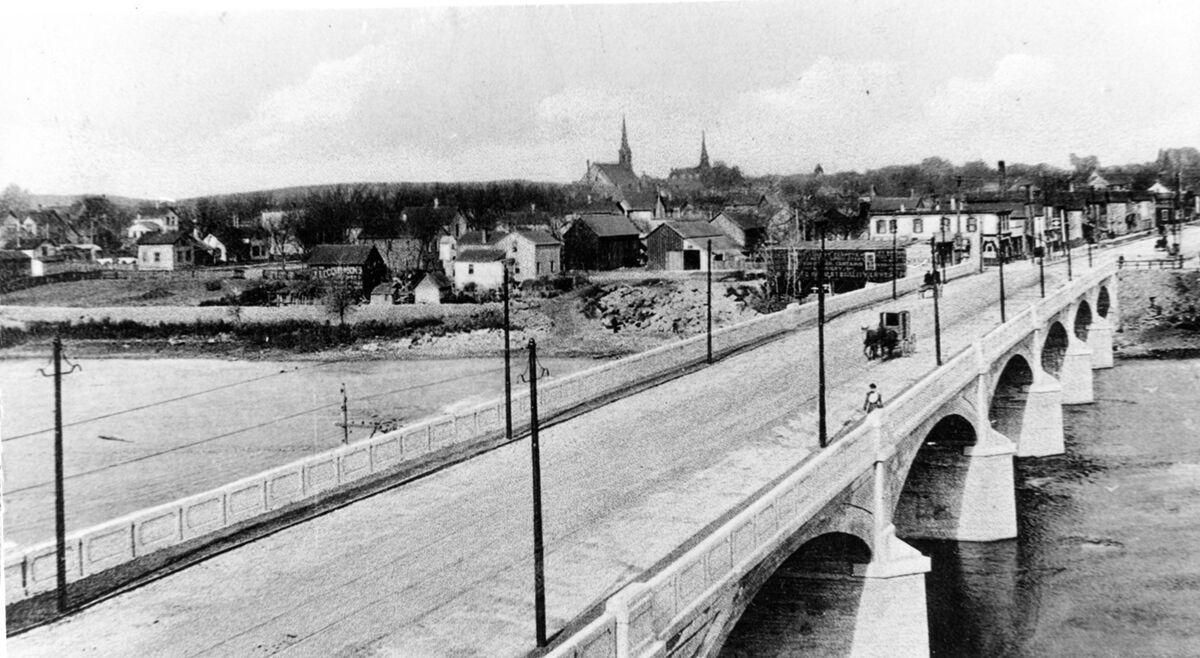 Wagon on bridge