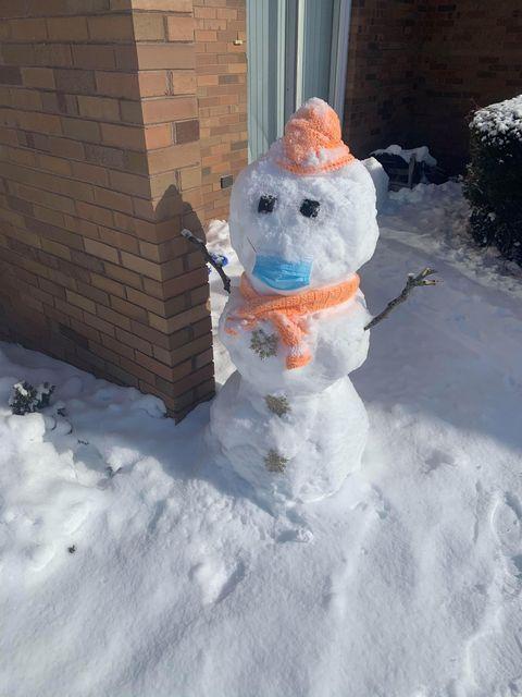COVID-19 snowman