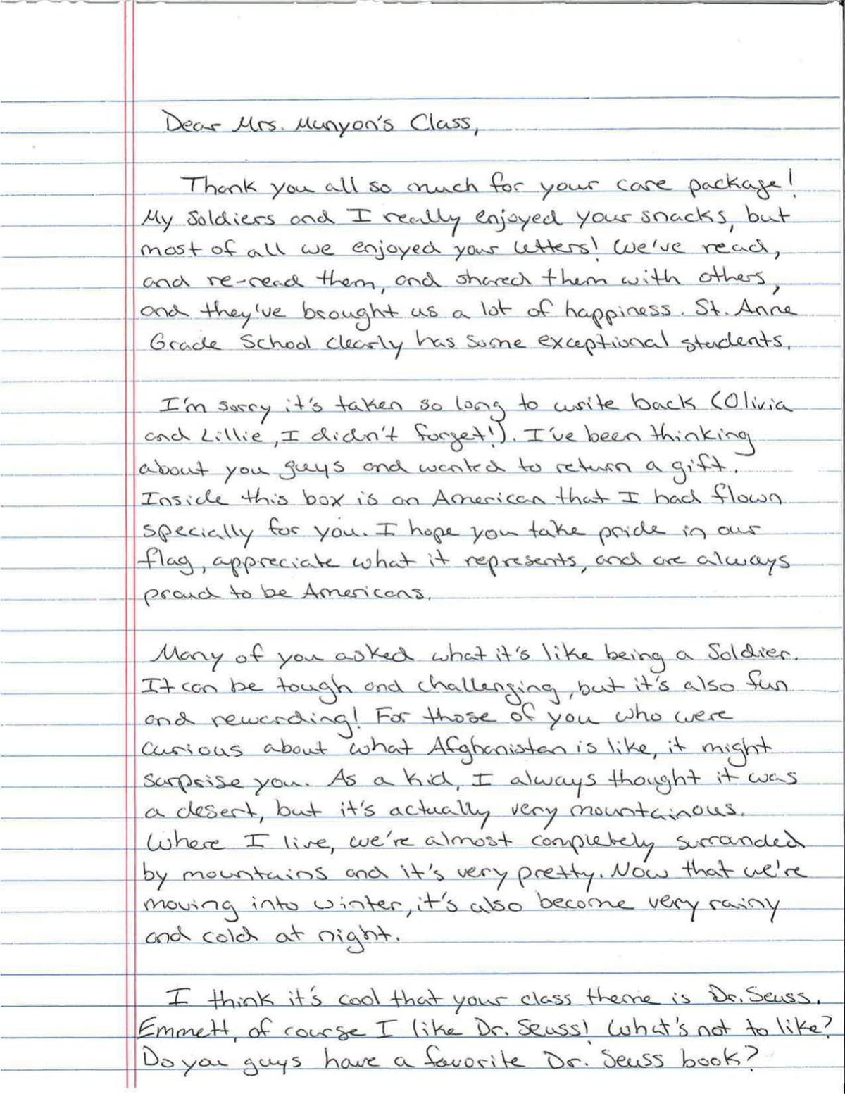 Write a letter to a soldier for students popular masters admission paper topics