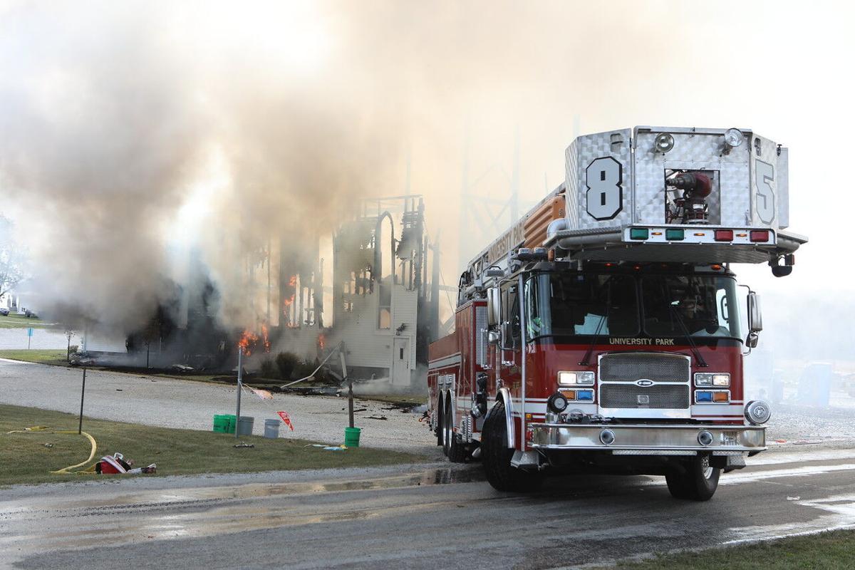 Beecher church fire photos