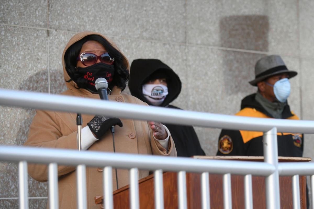Kankakee Alderwoman Malone-Marshall speaks at gun violence meeting