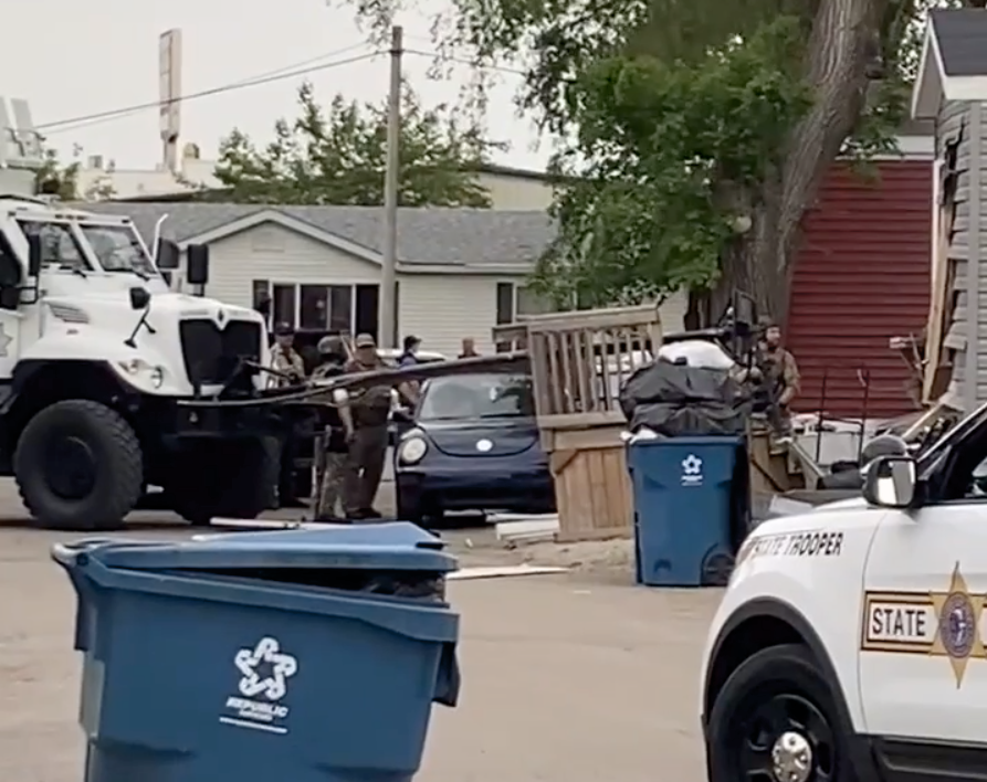 SWAT barricaded man