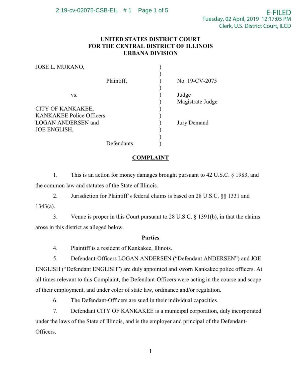 Police lawsuit