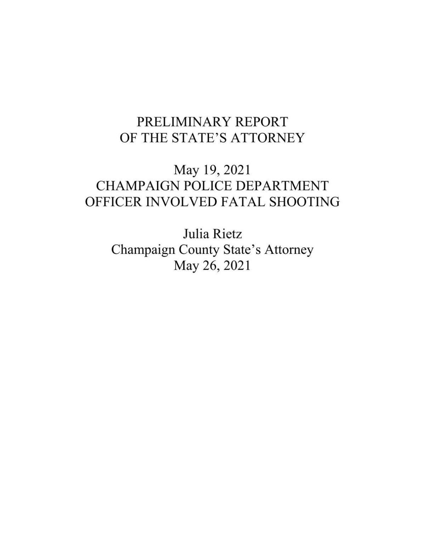Shooting preliminary report