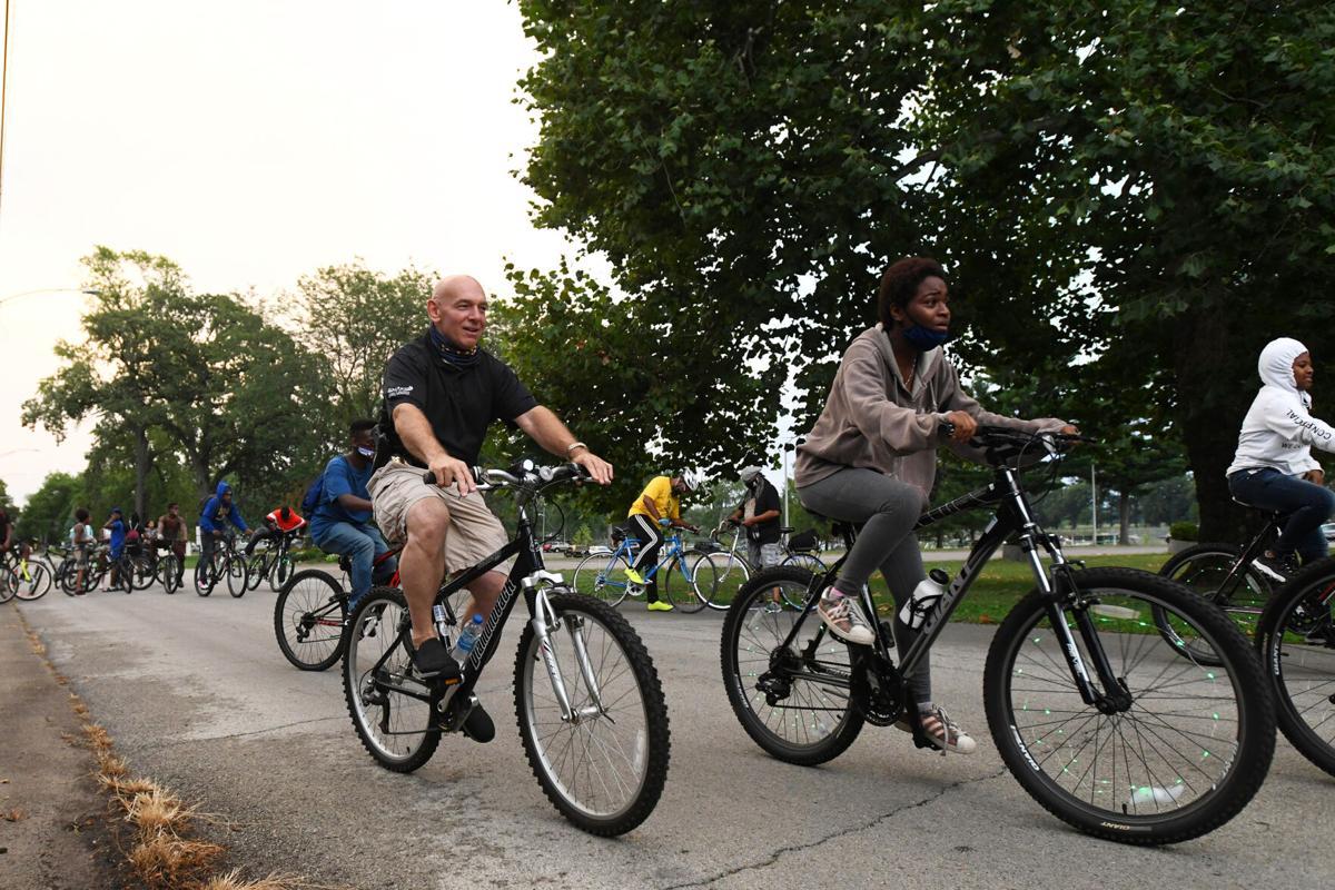 Police, community bike to Light Up the Night
