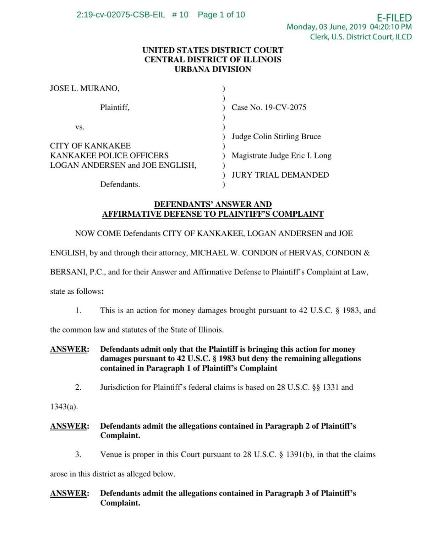 Lawsuit Against Police Department