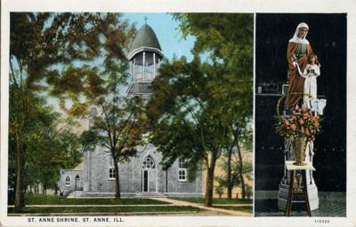 st anne postcard - shrine