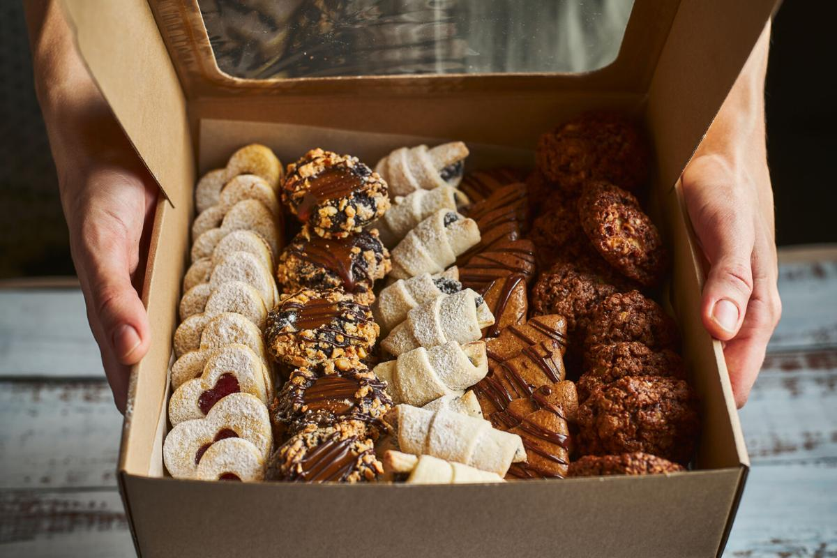 Boxes of baked goods
