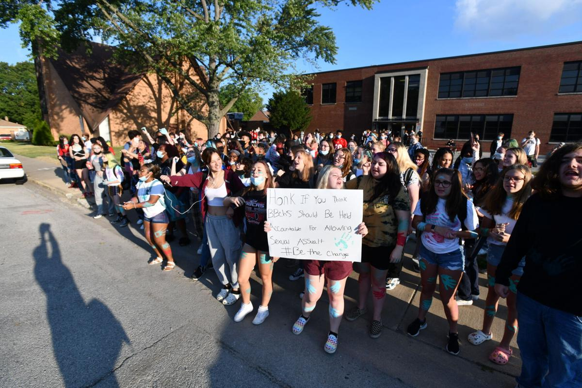 More students join BBCHS protest during school day
