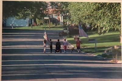 9/11 kids walking photo