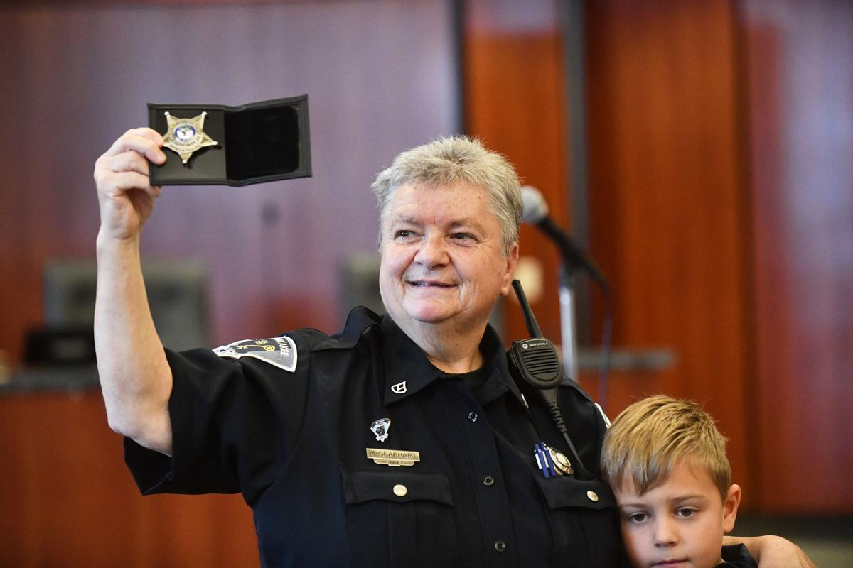 Kankakee Police Marci Gearhart retires