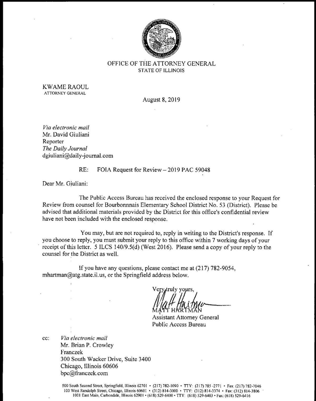 School District Response