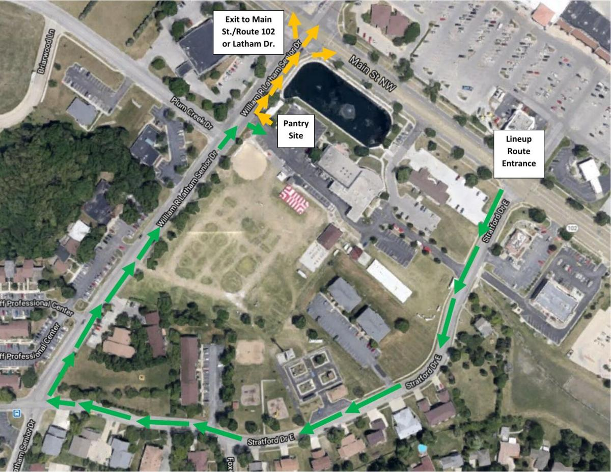 Secret Pop-Up Food Pantry route