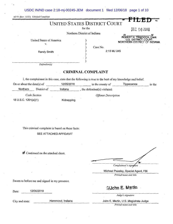 Criminal complaint | | daily-journal com
