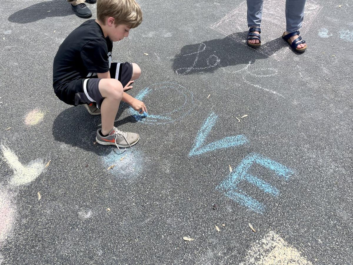 St. Anne Grade School - chalk students 3