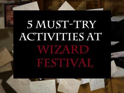 5 activities - Wizard Festival