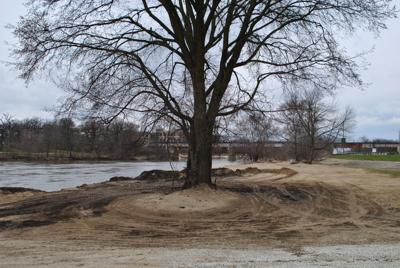 Sand collects at Fisherman's Park