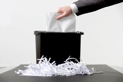 Shredding a paper