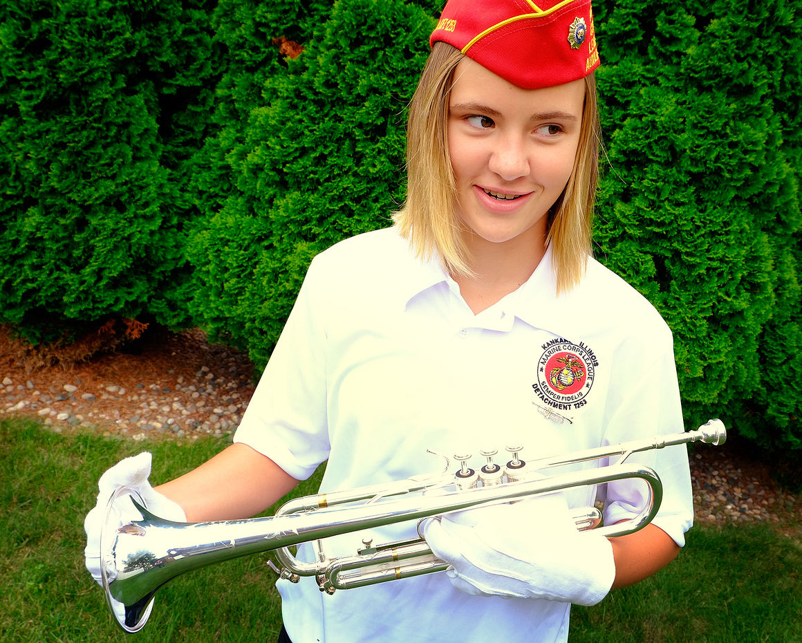 Bradley girl playing taps at state fair | Local News ...