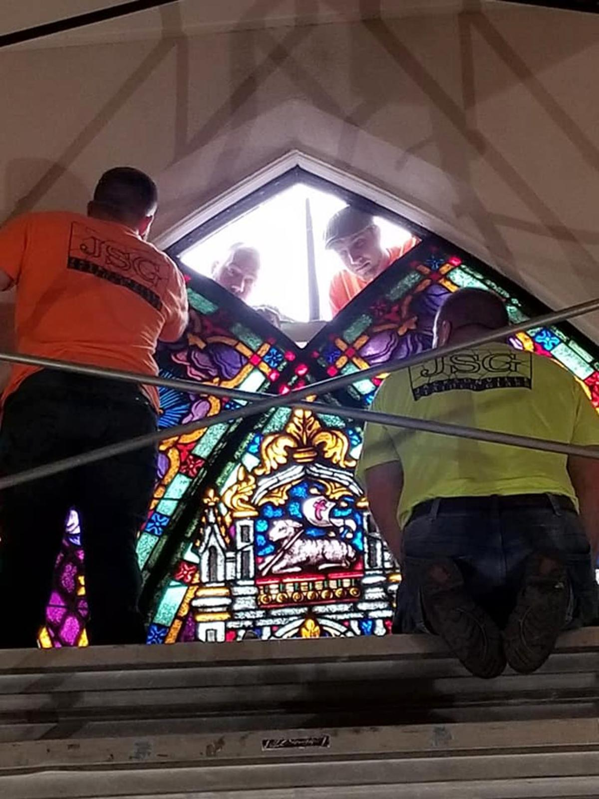 Stained glass windows restored