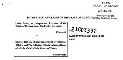 State sued over veteran's COVID-19 death at the LaSalle Veterans' Home