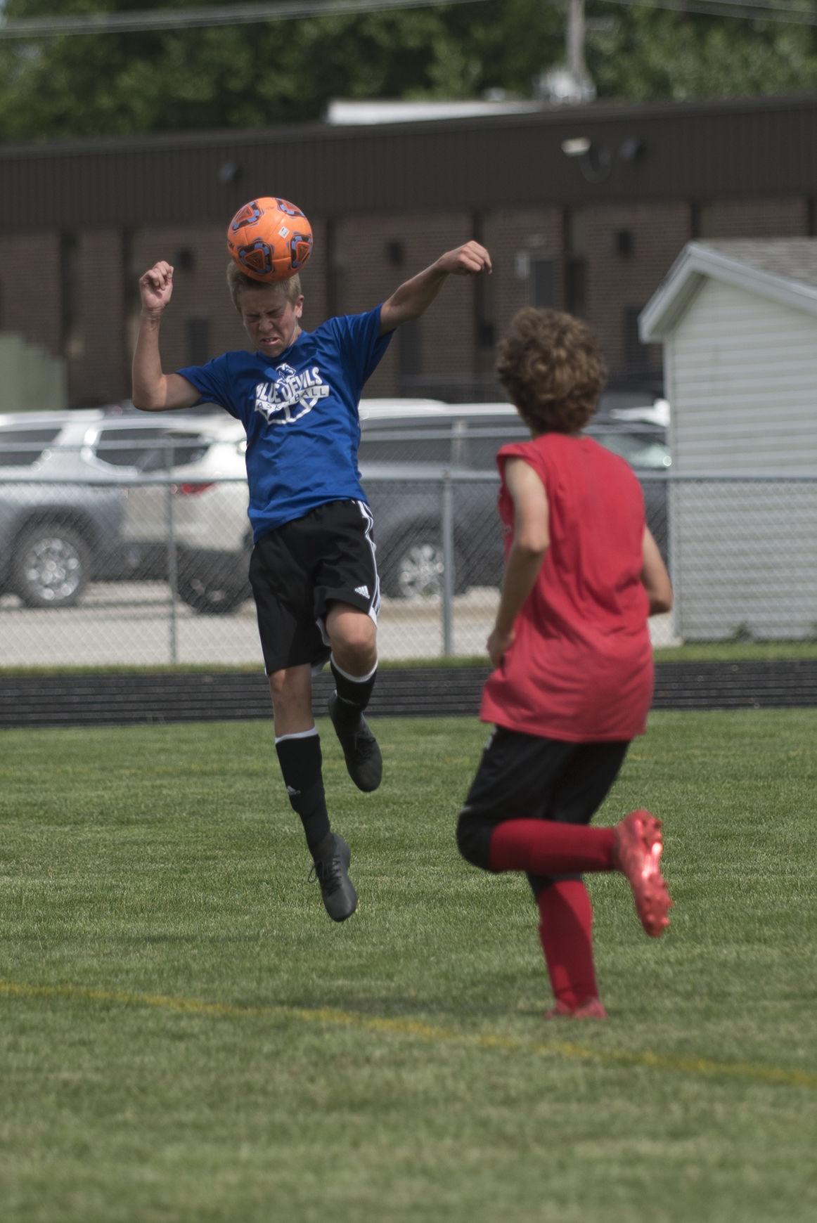 Boys summer soccer action in full swing