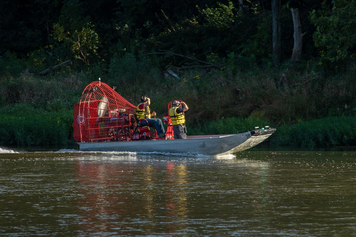 Searchers looking in Kankakee River State Park for missing