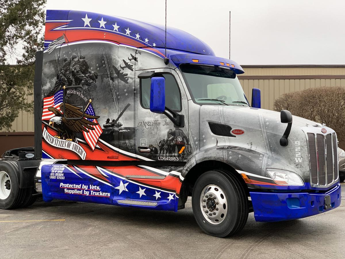 A.N. Webber Military Tribute Truck by Fastlane Wraps