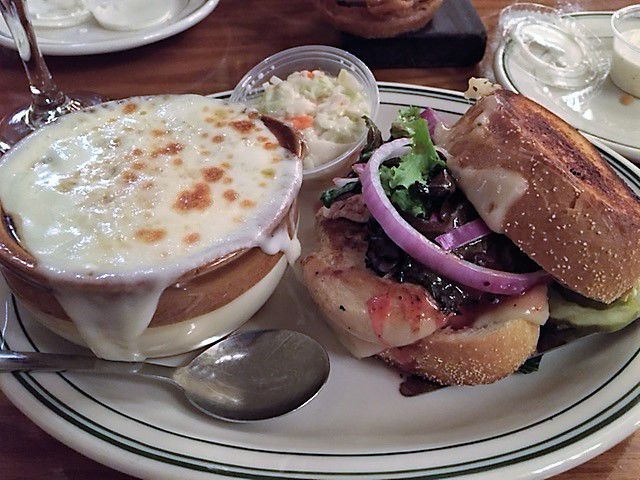 French onion soup and raspberry chicken sandwich.jpg