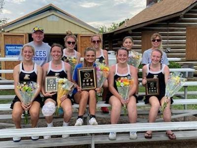 2021 spring John A. Holmes High School girls tennis team