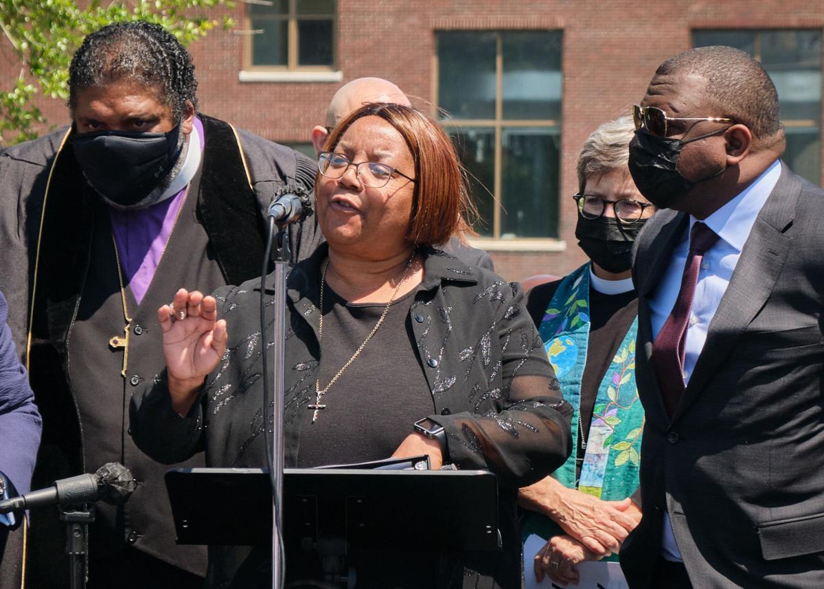 clergy march, glenda brown speaks