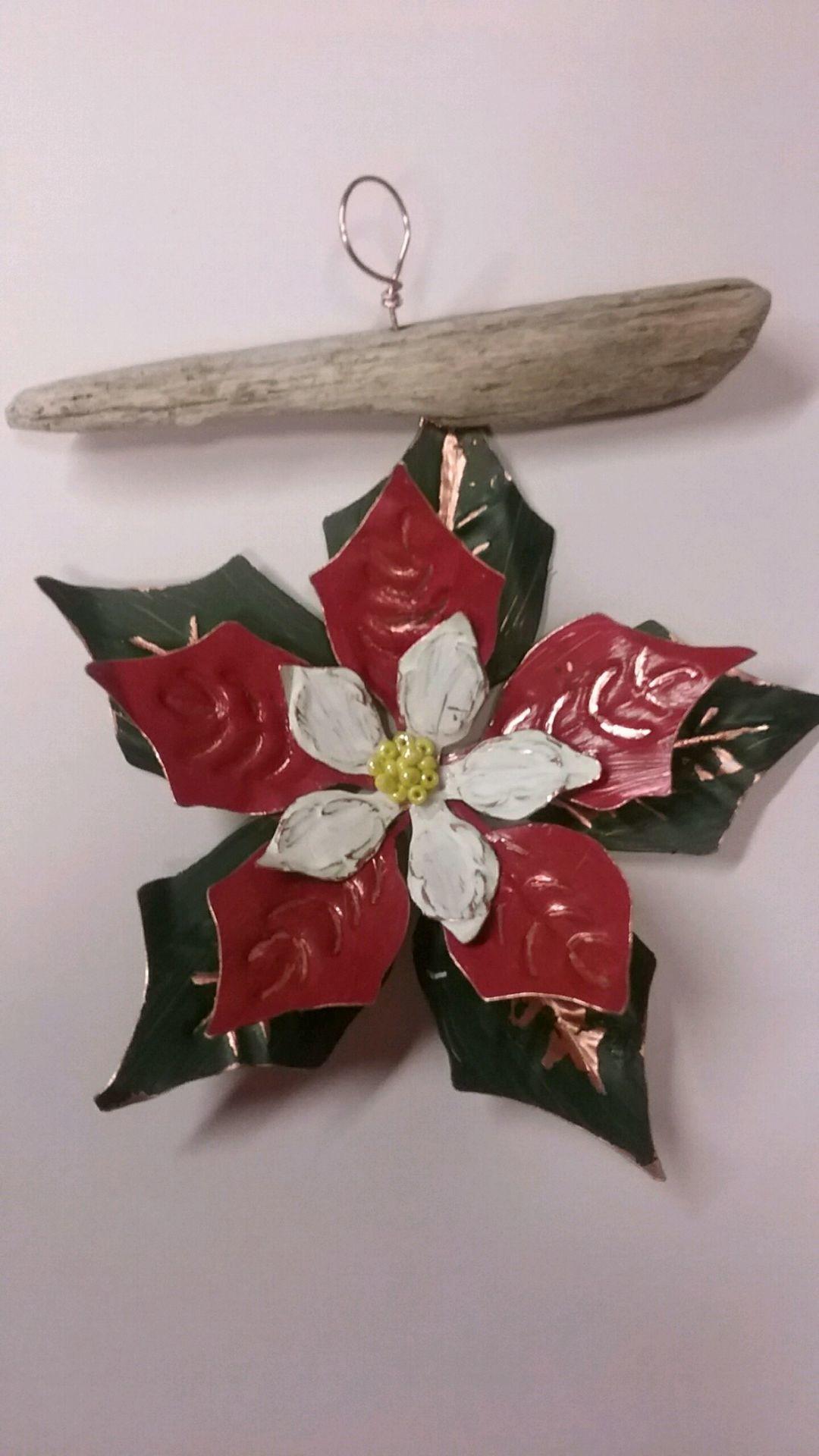 Copper Poinsettia ornament