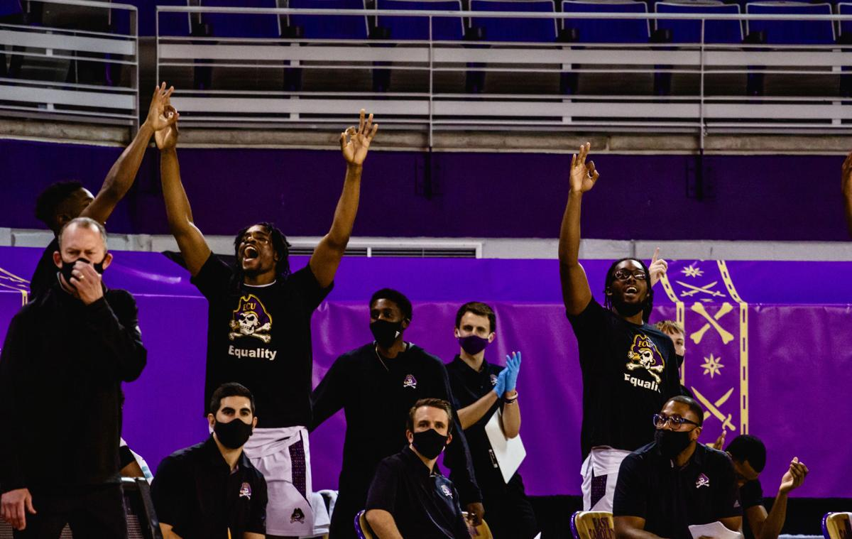 ECU hoops bench