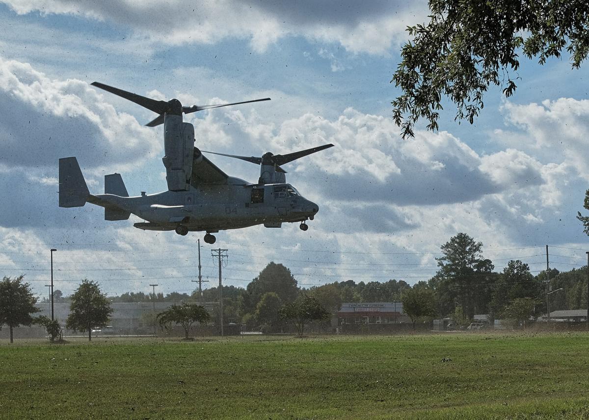 osprey landing at ecsu 1