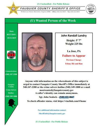 landry wanted poster