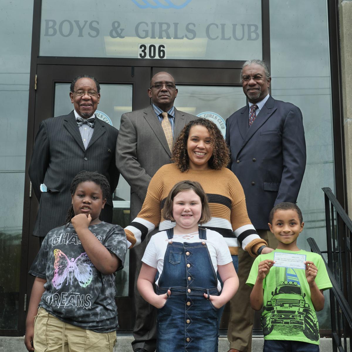 boys girls club 100 Black Men of NENC donation