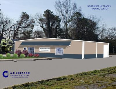 trades center architectural rendering