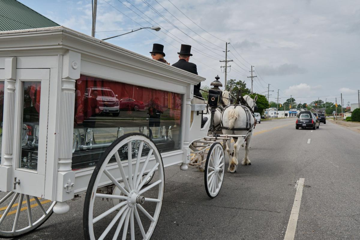 brown funeral procession 1