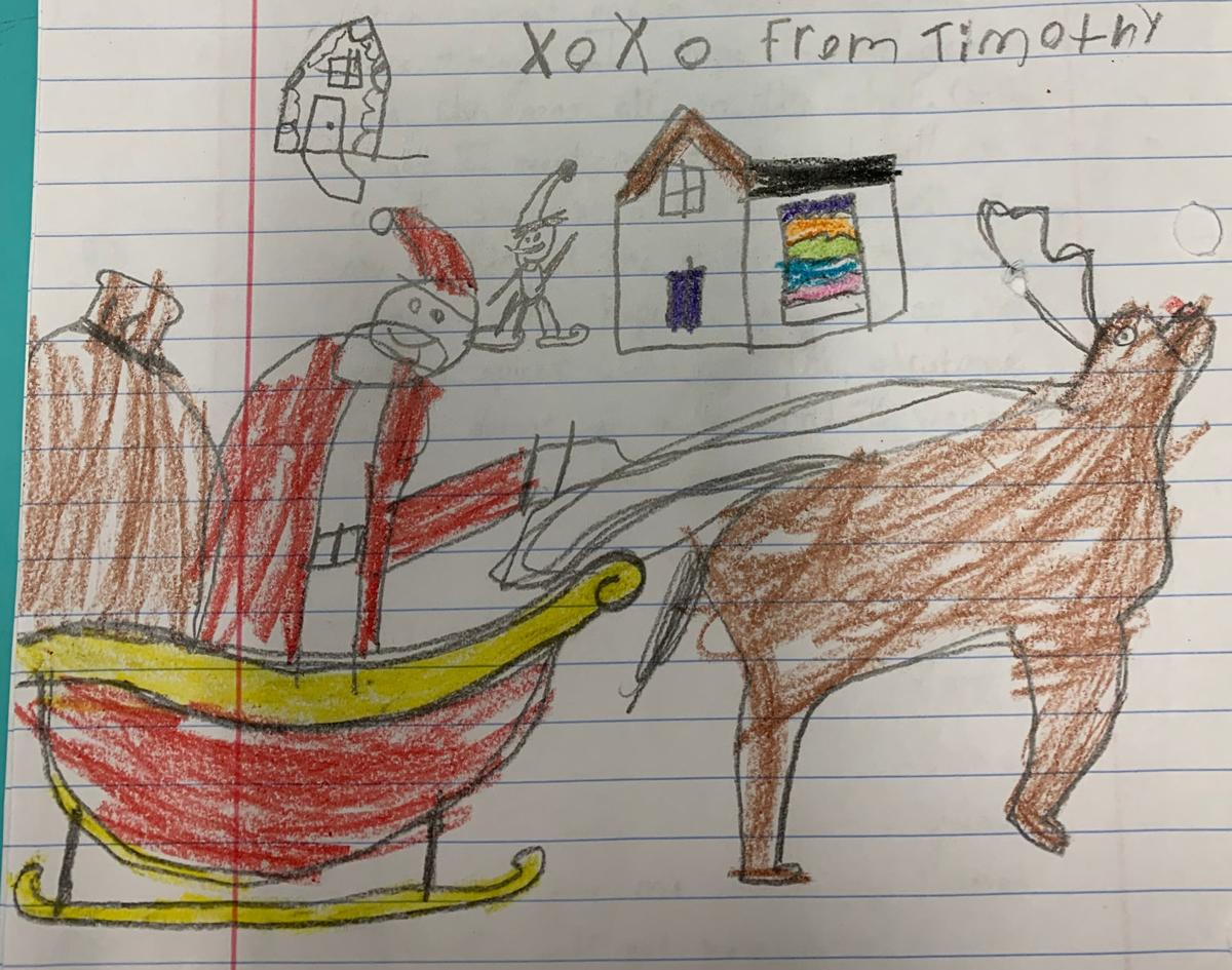 Letter to Santa, timothy artwork