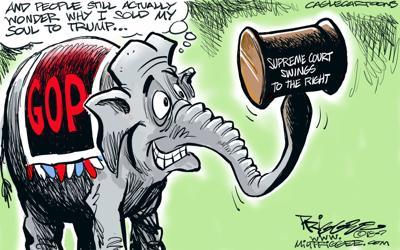 Editorial cartoon: Supreme Court