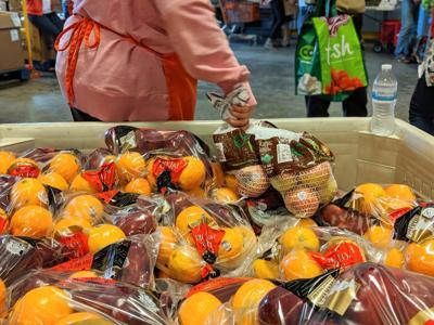 Fresh produce at regional food bank warehouse in Warrenton
