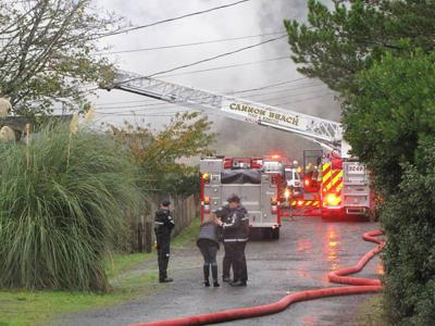 Cannon Beach house fire damages second floor