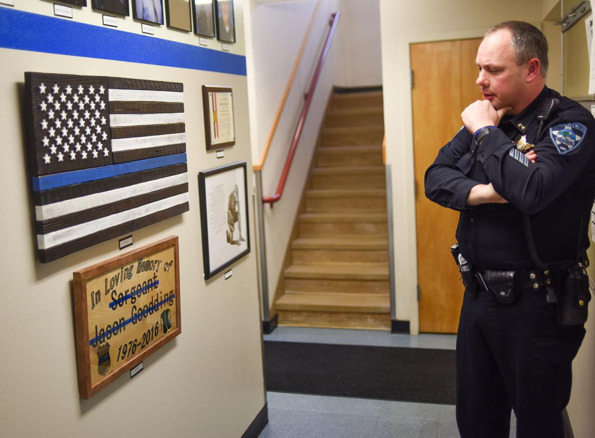 Memorial tribute to fallen officer