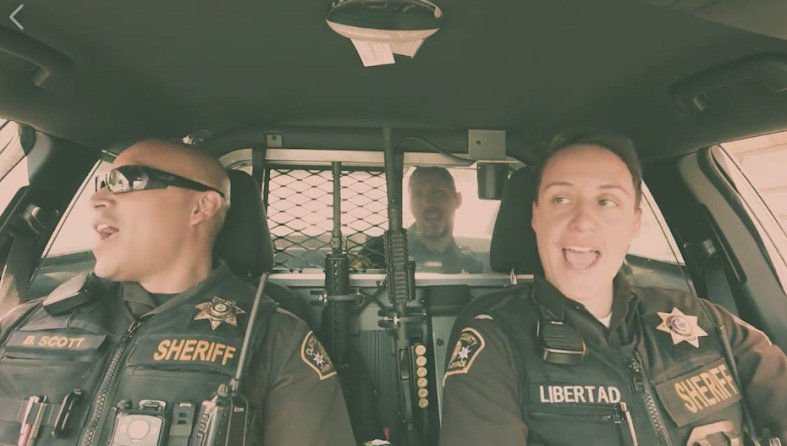 In a lip-sync battle, sheriff's deputies turn to 'The Goonies'