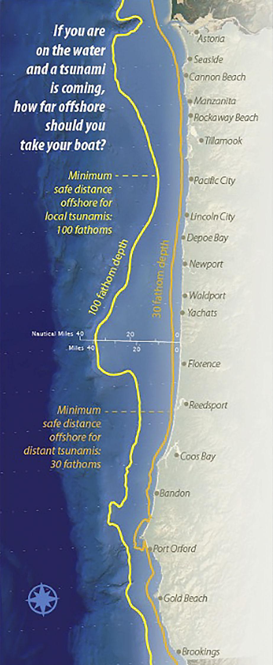 Tsunami map