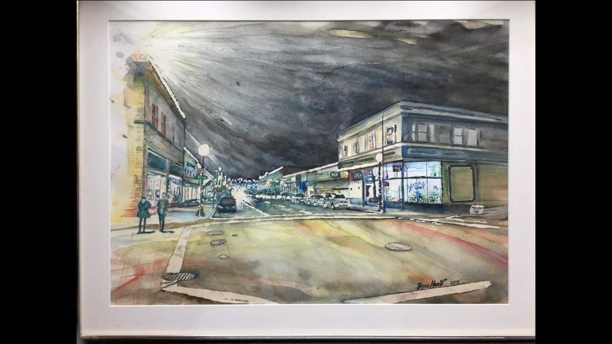Watercolor Commercial Street